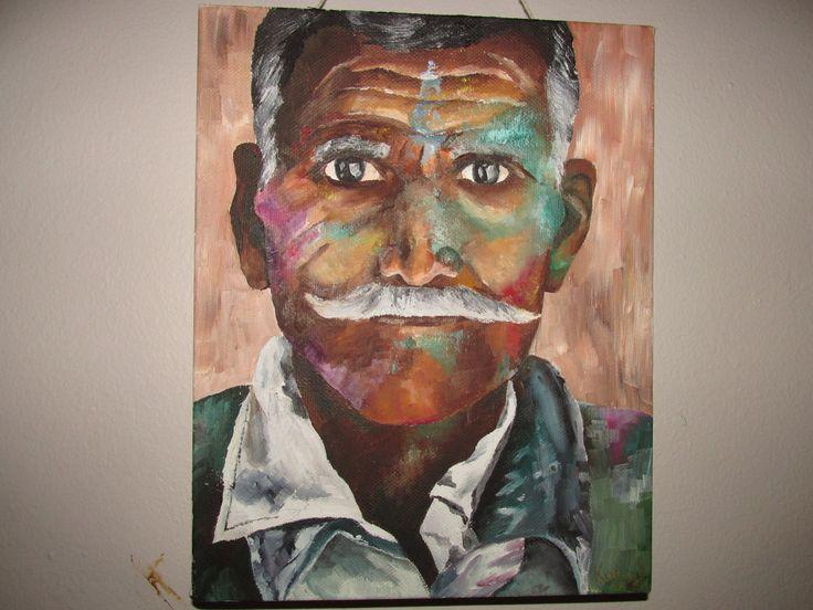 Man... oil on canvas, Katja beginning 2014