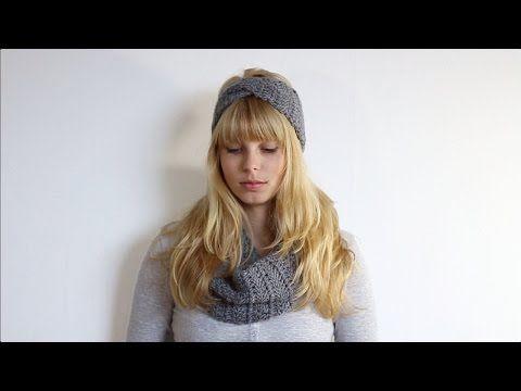 Twisted hoofdband + colsjaal haken - YouTube