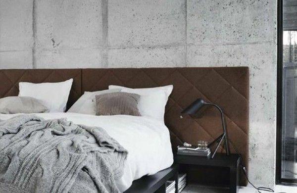 bett kopfteil modern gepolstert grau farben