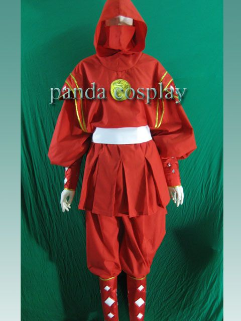Mighty Morphin Power Rangers Red Ninjetti Ninja Ranger Cosplay Costume