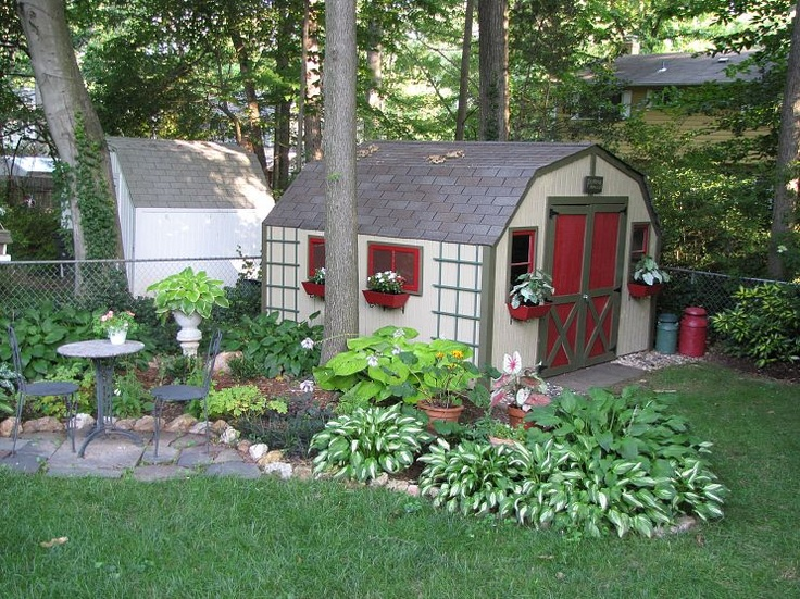 Shed makeover with Faux Windows