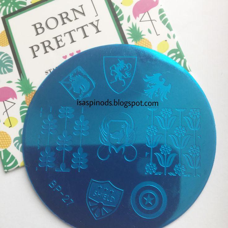 Placa BP-27 de Born Pretty Store - Para más información haz clic en este link-> http://www.bornprettystore.com/cool-badge-theme-nail-stamping-template-image-plate-born-pretty-bp27-clearance-p-17910.html