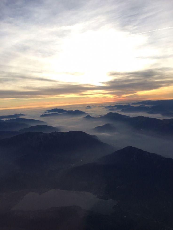 Boven de Alpen