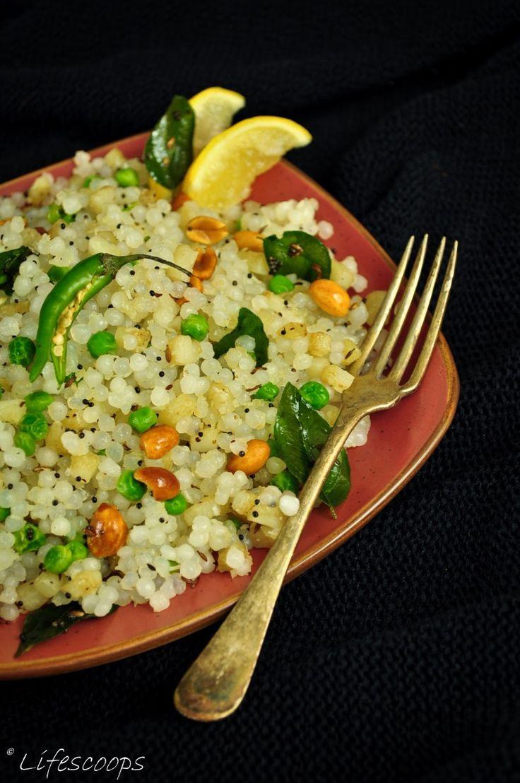Life Scoops: Sabudana (Sago) Khichdi / Tapioca Pearls, Potato and Peas Pilaf