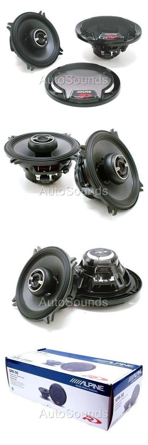 Car Speakers and Speaker Systems: Alpine Type R Spr-50 270 Watts 5.25 2-Way Coaxial Car Audio Speakers 5-1/4 BUY IT NOW ONLY: $102.0