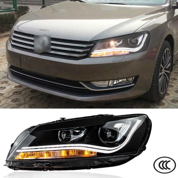 463.13$  Buy here - http://ali0cj.worldwells.pw/go.php?t=32398254530 - Car Styling Headlights For Volkswagen VW Passat B7 2010 2011 2012 2013 Bifocal lens Guiding light Best quality 463.13$