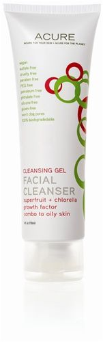 Organic Facial Cleanser Gel superfruit + chlorella growth factor - Acure Organics