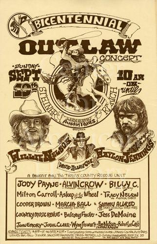 Bicentennial Outlaw Concert / Willie Nelson / David Allan Coe / Waylon Jennings