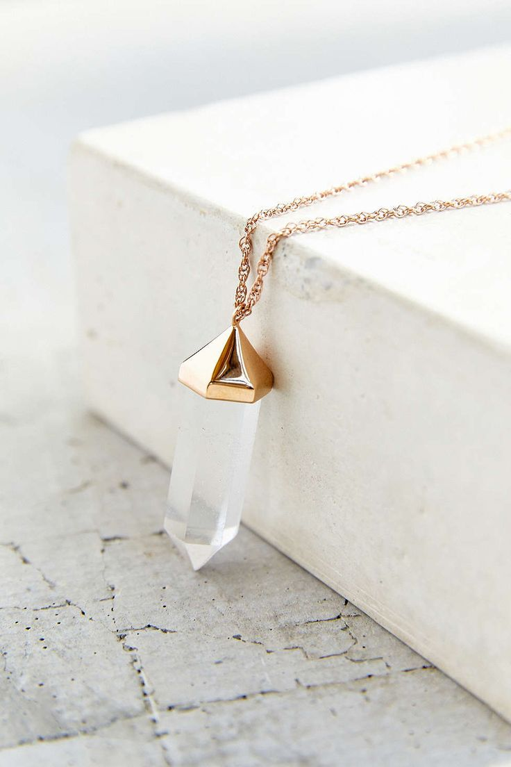 Amber Sceats Clear Cut Crystal Necklace from Urban Outfitters