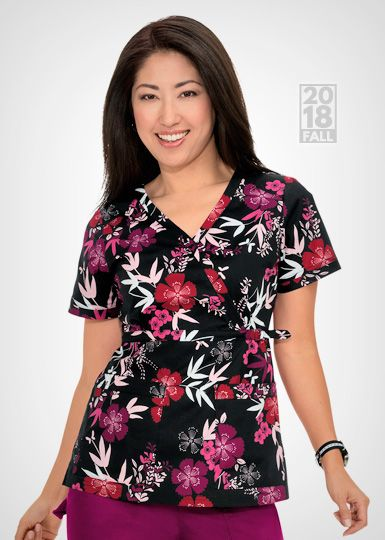 d86d1c6c287 289 Stretch Luna Top - Bamboo Garden   Koi 2018   Medical scrubs, Scrubs, Scrub  tops