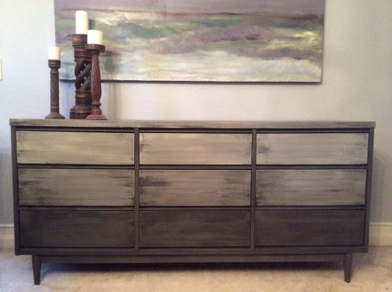 Shades of Grey Mid Century Modern Sideboard/Buffet/Dresser/Credenza on Etsy, $1,095.00