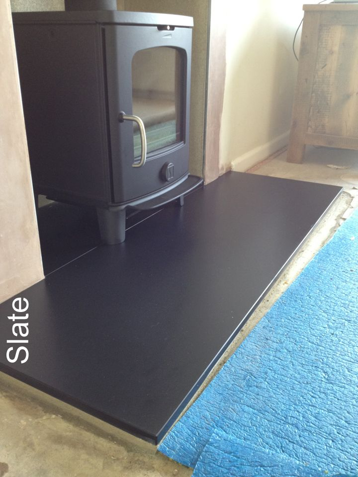 Slate hearth for sitting room