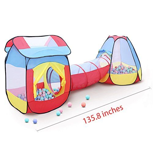 GrowthPic Kids Play Tent Set with Tunnel Large Children Playhouse Pretend Teepee Ball Pit for Toddlers Indoor and Outdoor Pop-up Play #GrowthPic #Kids ...  sc 1 st  Pinterest & Best 25+ Play tent and tunnel ideas on Pinterest | Outdoor play ...