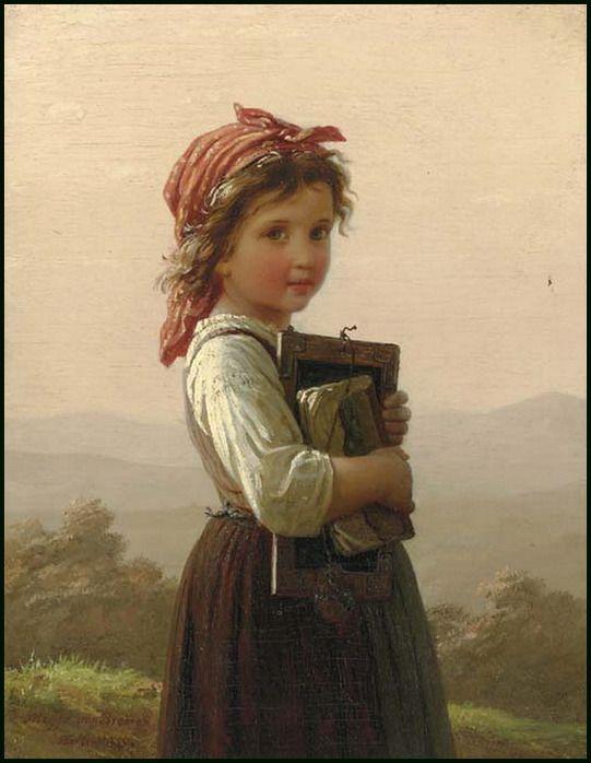 Johann Georg Meyer Von Bremen  The Little Schoolgirl