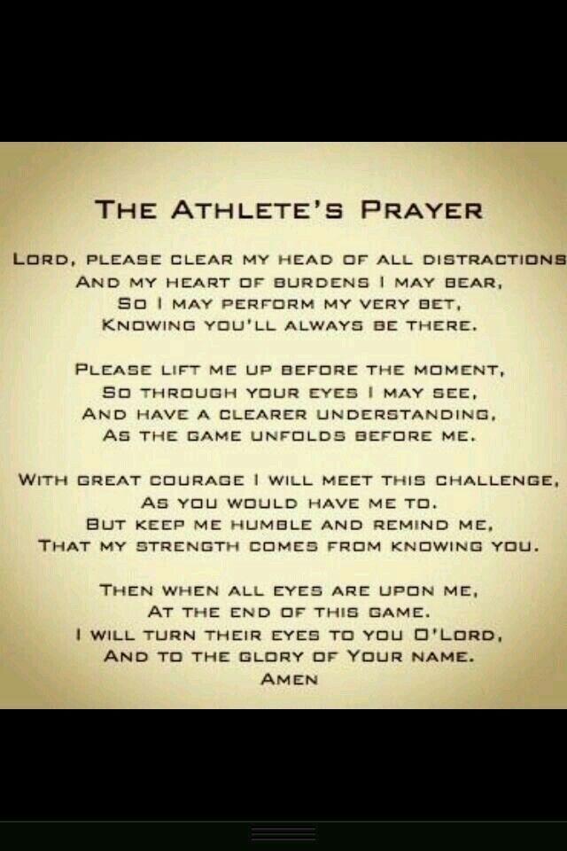 Athletes prayer                                                                                                                                                     More