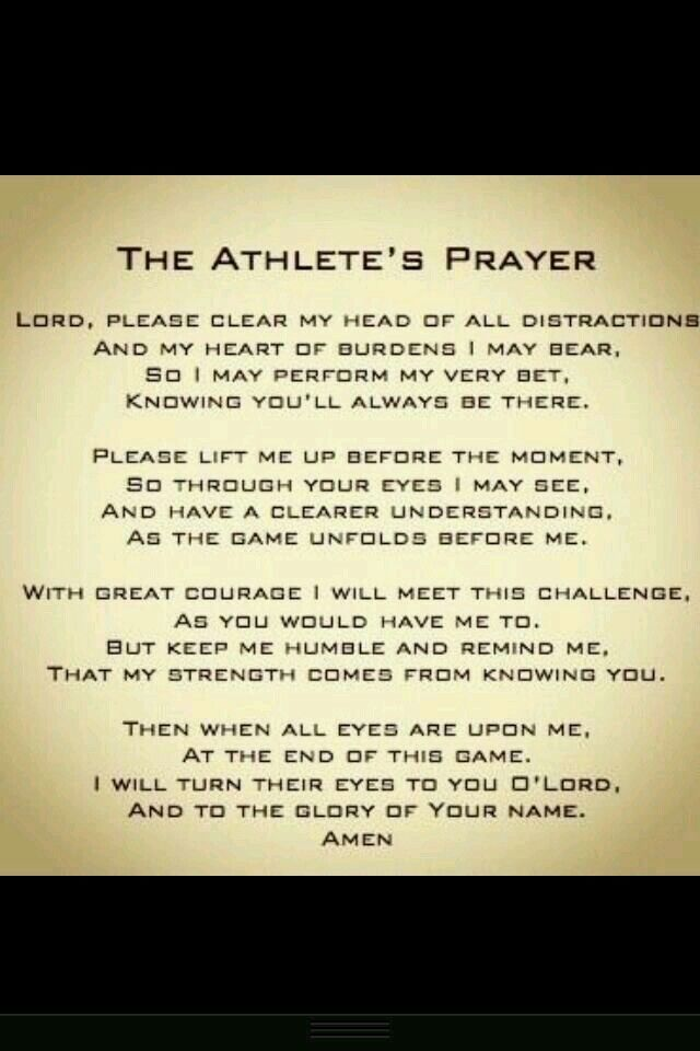 Athletes prayer                                                                                                                                                     More