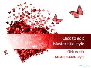 Free Red Heart PPT Template