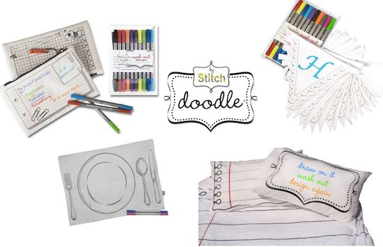 doodle by stitch στο kindergallery.gr! Draw on them, wash out, design again!