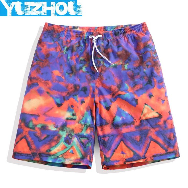 Yuzhou boardshorts mens swimsuit sweat running joggers bodybuilding beach hawaiian surf swim boardshort bathing suit geometric