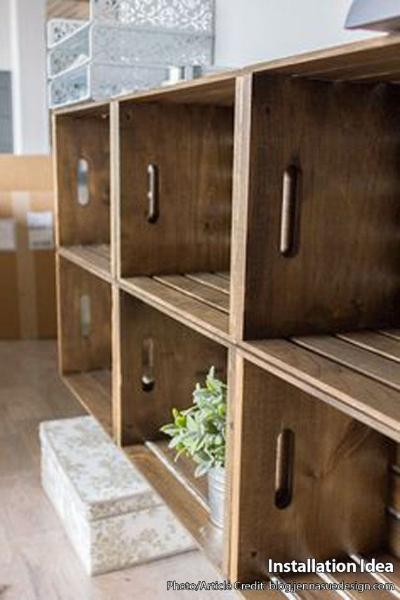 Wooden Crates for Building Shelves by PistolPetesSurvival on Etsy