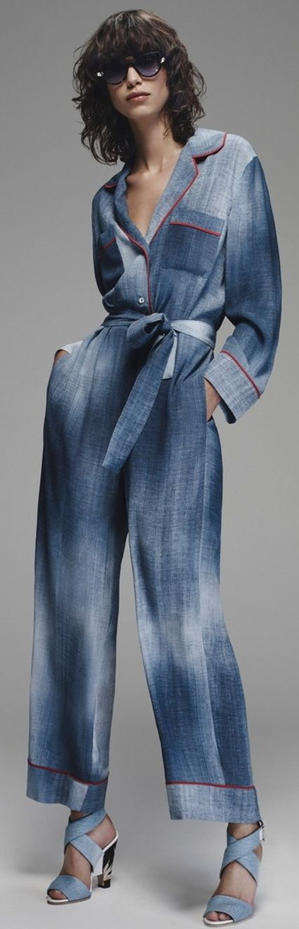 Fendi Resort 2016 denim jumper #Style