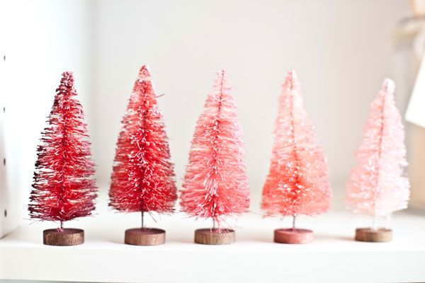 ombre mini christmas trees