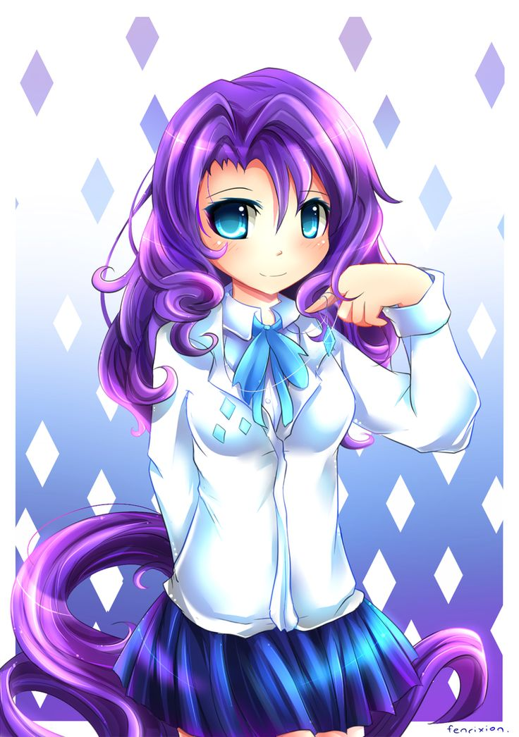 MLP Gakusei : Rarity by Fenrixion on http://fenrixion.deviantart.com/gallery/?catpath=%2F&q=MLP