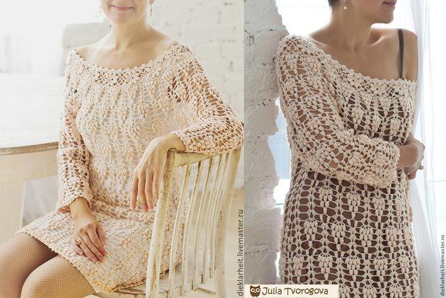 abito tunica Julia Tvorogova.  schema di lavoro a maglia
