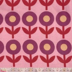 Jersey Knit - Flowers On Pink