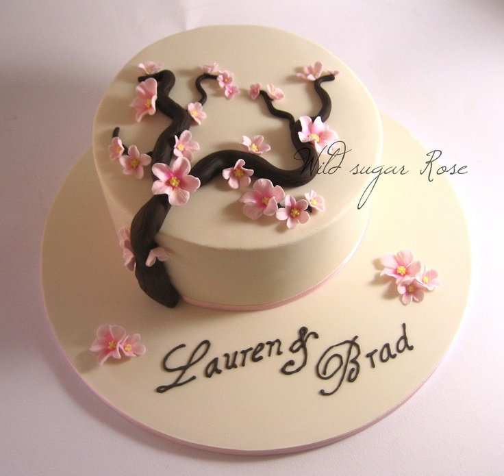 Sugar Rose Cake Design : 75 best images about Cherry Blossom Wedding Cakes on ...