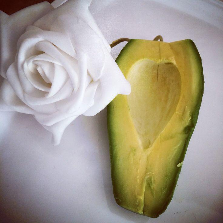 Heart of an avocado