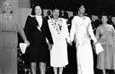 Leontyne Price helping the Delta Sigma Theta Sorority celebration gala at the Kennedy Center in Washington on Sunday, Jan. 31, 1988, along with Coretta Scott King, Delta national President Hortense G. Canady of Lansing, Mich.