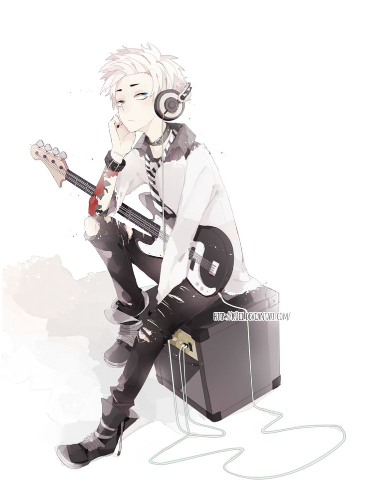Anime Boy Rock Guitar | Animes / Mangás / Games ... Boy With Guitar Drawing