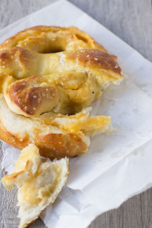 The best soft pretzel recipe and it happens to be stuffed with cheese! ohsweetbasil.com-7