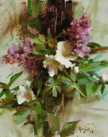 Lilacs and Azaleas by Daniel J. Keys