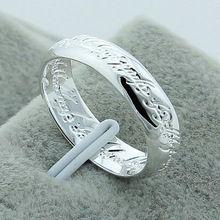 925 чистое серебро свадьба кольца для женщины мужчины круг помолвка кольцо модное ювелирные изделия YR045(China (Mainland))