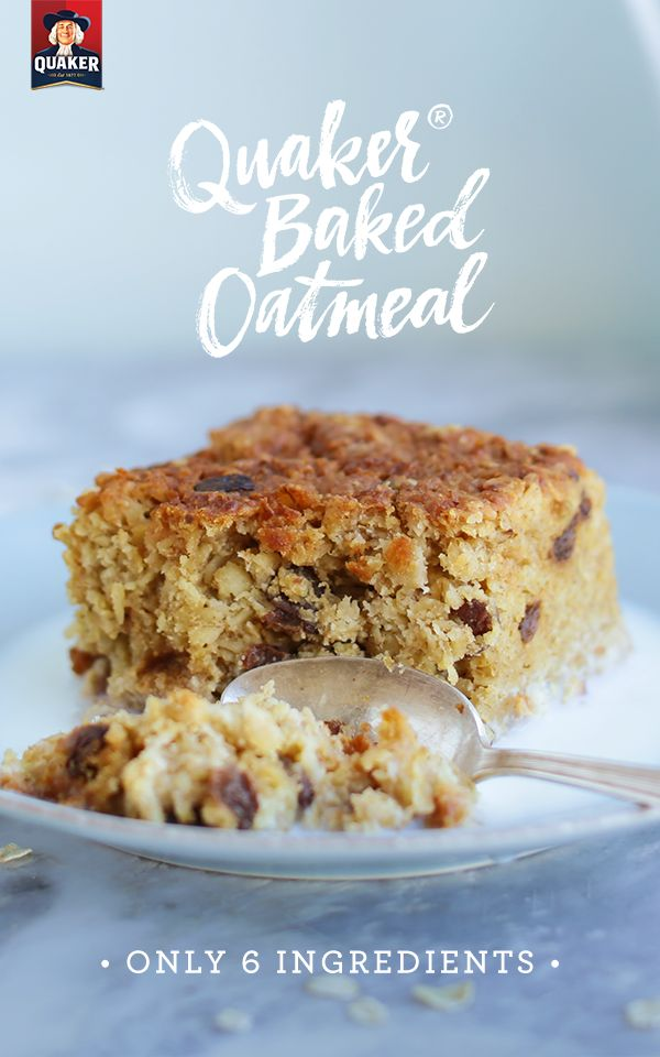 Did you know you could make baked oatmeal? Enjoy your favorite breakfast in a whole new way! With only 6 ingredients, this recipe is simple, delicious, and the perfect weekend morning meal.