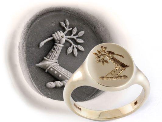 Lion Engraving Onnyx Ring