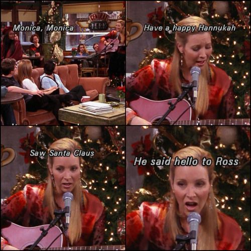 "Phoebe's holiday song | Community Post: 20 Of The Best Christmas Moments From ""Friends"""