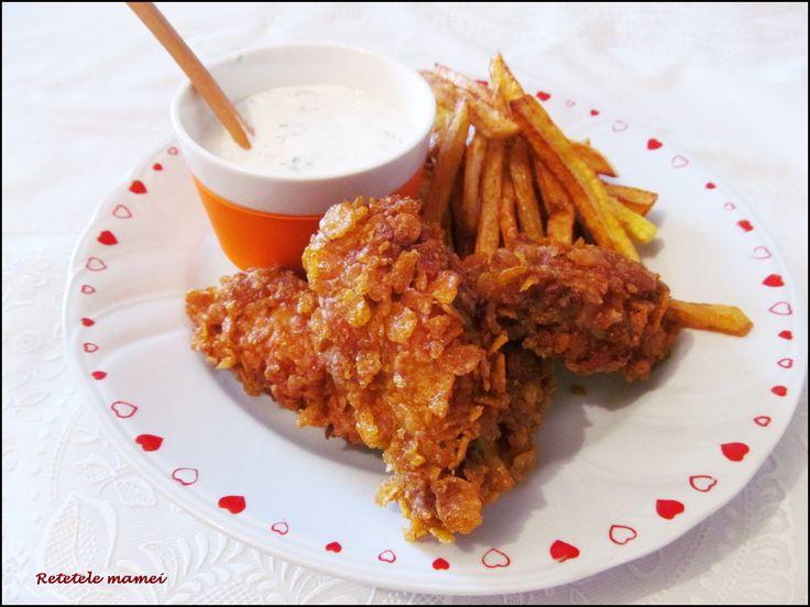 Aripioare și Crispy Strips ca la KFC