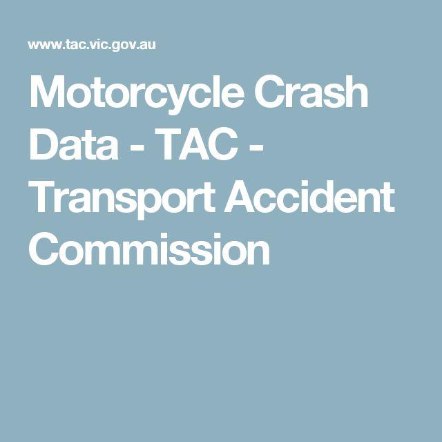 Motorcycle Crash Data - TAC - Transport Accident Commission