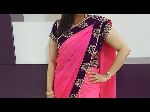 c423be76ab 106. One minute saree - YouTube   Saree in 2019   Saree, Sari, How ...