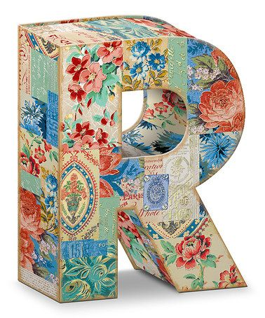 Patchwork Letter R Storage Box Zulilyfinds