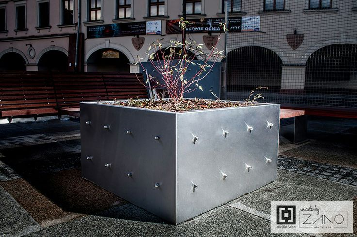 Industrial, stainless steel planter...
