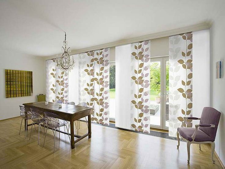 contemporary window treatment for sliding glass doors