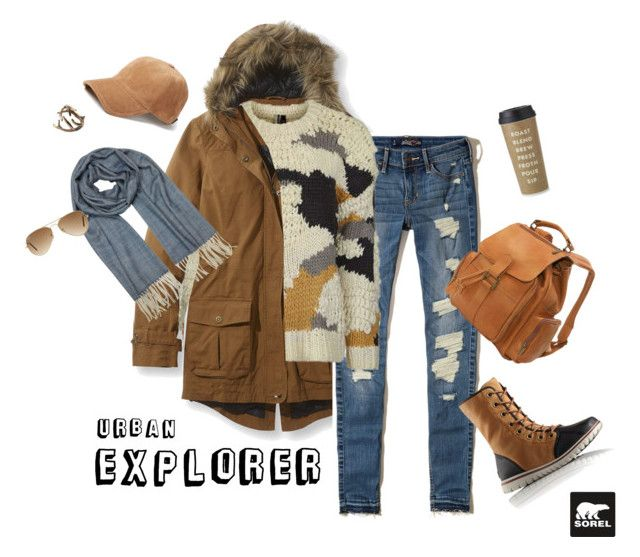 """""""Tame Winter with SOREL: Contest Entry"""" by goda-aleliuniene ❤ liked on Polyvore featuring L.L.Bean, Hollister Co., SOREL, Topshop, rag & bone, Le Donne, Mila Schön, Ray-Ban, Kate Spade and sorelstyle"""
