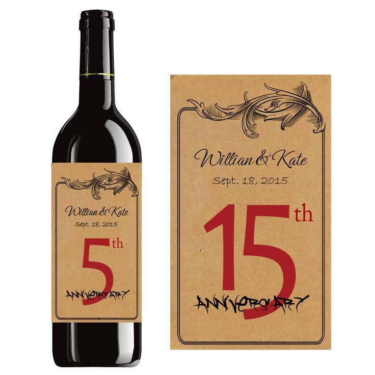 Personalized Wine Labels For Wedding Gift : Custom Wine Label Personalized Bottle Labels For Wedding Anniversary ...