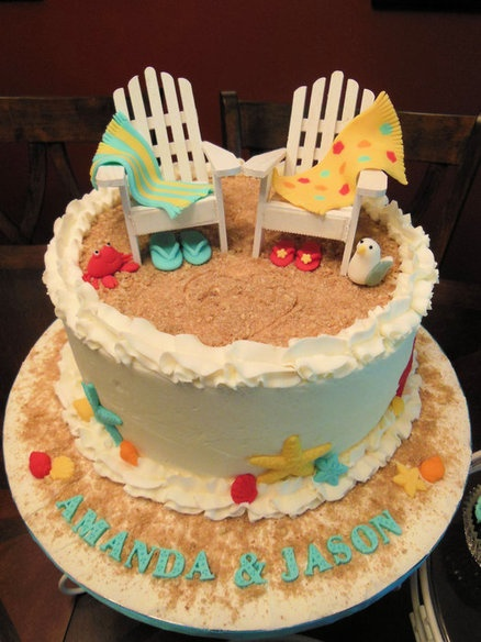 beach theme wedding shower cake cupcakes wedding pinterest wedding shower cakes shower. Black Bedroom Furniture Sets. Home Design Ideas