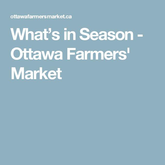 What's in Season - Ottawa Farmers' Market