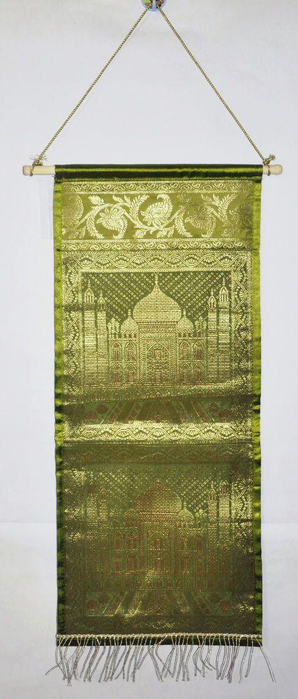 Traditional Indian Handmade Designer Brocade Silk Decor Wall Hanging Tapestry #Lalhaveli